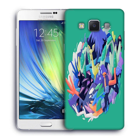 Snoogg Abstract Animal Designer Protective Back Case Cover For Samsung Galaxy A7