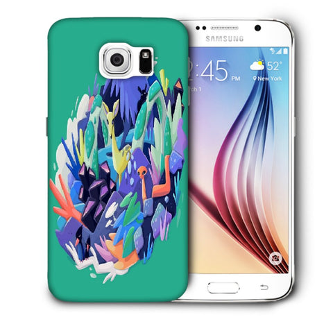 Snoogg Abstract Animal Designer Protective Back Case Cover For Samsung Galaxy S6