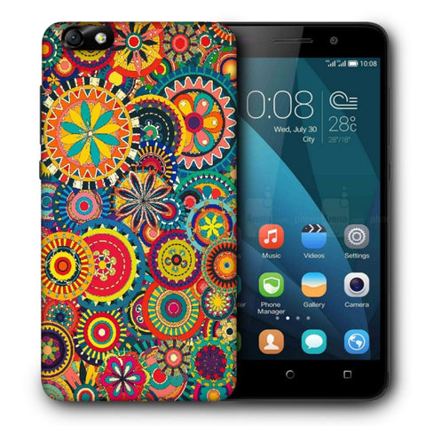 Snoogg Abstract Multicolor Floral Designer Protective Back Case Cover For Huawei Honor 4X