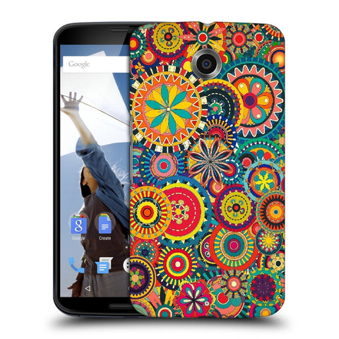 Snoogg Abstract Multicolor Floral Designer Protective Back Case Cover For Motorola Nexus 6