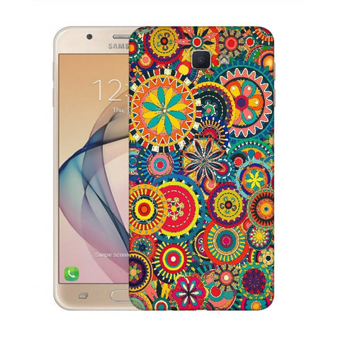 Snoogg Abstract Multicolor Floral Designer Protective Back Case Cover For Samsung Galaxy On Nxt / J7 Prime