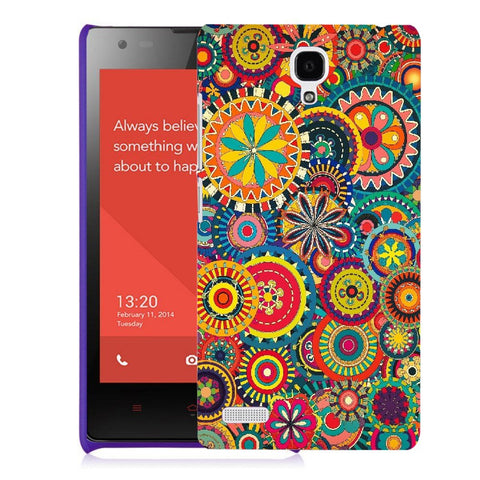 Snoogg Abstract Multicolor Floral Designer Protective Back Case Cover For Xiaomi Redmi Note 2