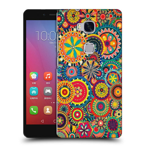 Snoogg Abstract Multicolor Floral Designer Protective Back Case Cover For Huawei Honor 5X