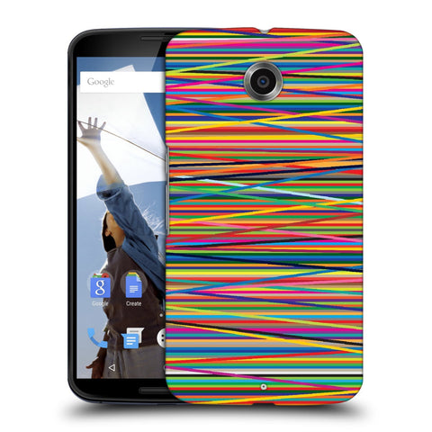 Snoogg Abstract Multicolor Designer Protective Back Case Cover For Motorola Nexus 6
