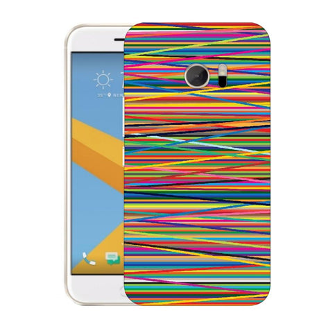Snoogg Abstract Multicolor Designer Protective Back Case Cover For HTC Desire 10 Lifestyle
