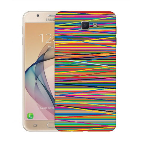 Snoogg Abstract Multicolor Designer Protective Back Case Cover For Samsung Galaxy On Nxt / J7 Prime
