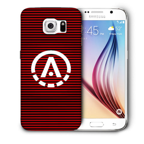 Snoogg A Red Designer Protective Back Case Cover For Samsung Galaxy S6