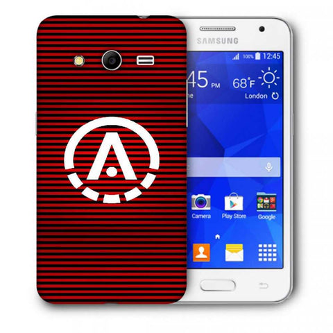 Snoogg A Red Designer Protective Back Case Cover For Samsung Galaxy Core 2