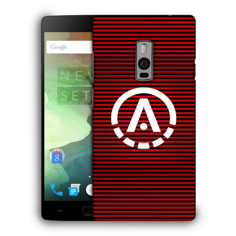 Snoogg A Red Designer Protective Back Case Cover For OnePlus Two