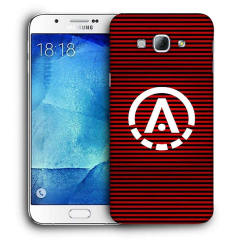 Snoogg A Red Designer Protective Back Case Cover For Samsung Galaxy A8