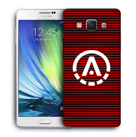 Snoogg A Red Designer Protective Back Case Cover For Samsung Galaxy A7
