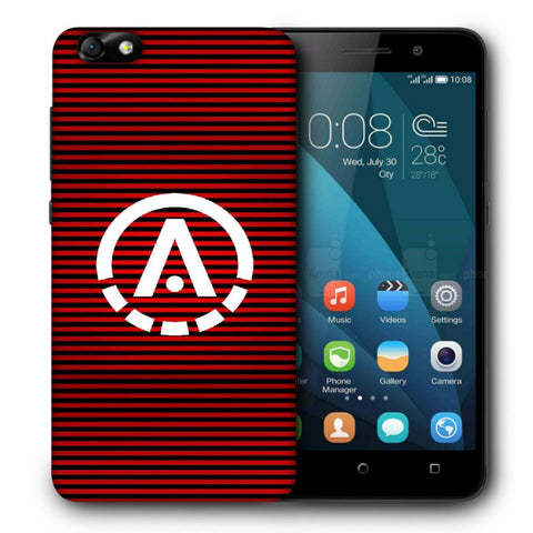 Snoogg A Red Designer Protective Back Case Cover For Huawei Honor 4X