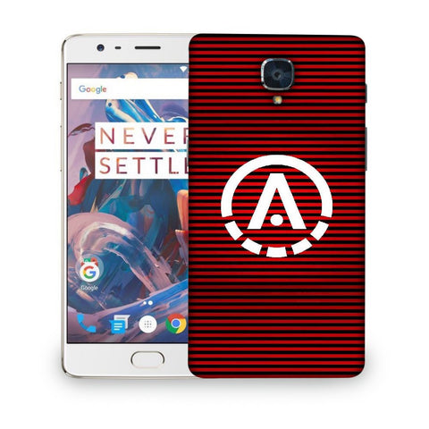 Snoogg A Red Designer Protective Back Case Cover For ONEPLUS 3T