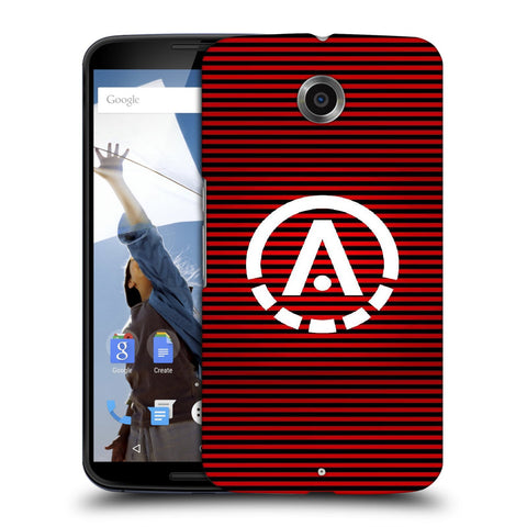 Snoogg A Red Designer Protective Back Case Cover For Motorola Nexus 6