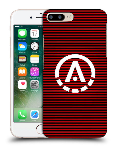 Snoogg A Red Designer Protective Back Case Cover For Apple Iphone 7 Plus