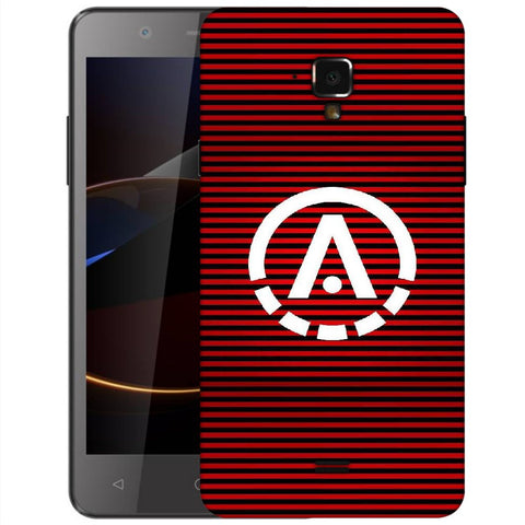 Snoogg A Red Designer Protective Back Case Cover For Swipe Elite 2 Plus