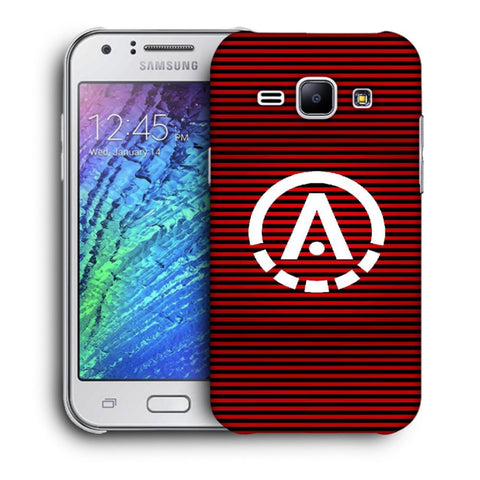Snoogg A Red Designer Protective Back Case Cover For Samsung Galaxy J1