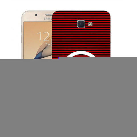 Snoogg A Red Designer Protective Back Case Cover For Samsung Galaxy On Nxt / J7 Prime