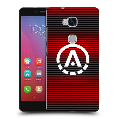 Snoogg A Red Designer Protective Back Case Cover For Huawei Honor 5X