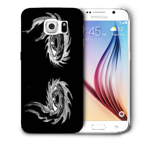 Snoogg Abstract Grey Eyes Designer Protective Back Case Cover For Samsung Galaxy S6