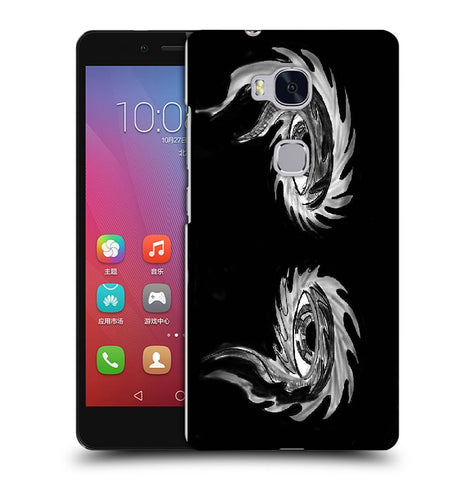 Snoogg Abstract Grey Eyes Designer Protective Back Case Cover For Huawei Honor 5X