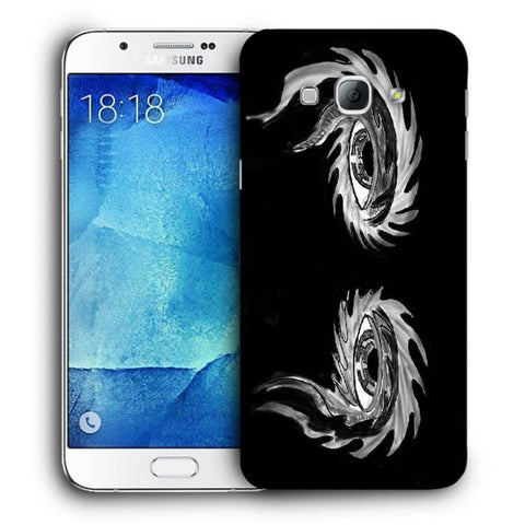 Snoogg Abstract Grey Eyes Designer Protective Back Case Cover For Samsung Galaxy A8