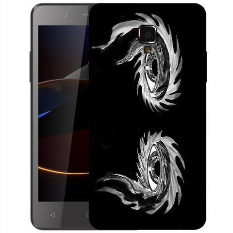 Snoogg Abstract Grey Eyes Designer Protective Back Case Cover For Swipe Elite 2 Plus