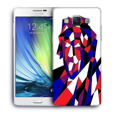 Snoogg Abstract Multicolor Designer Protective Back Case Cover For Samsung Galaxy A7