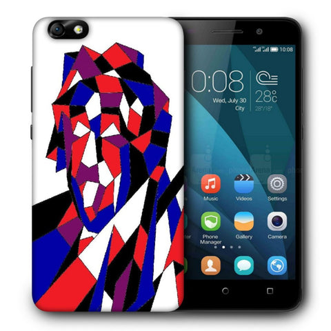 Snoogg Abstract Multicolor Designer Protective Back Case Cover For Huawei Honor 4X