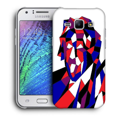 Snoogg Abstract Multicolor Designer Protective Back Case Cover For Samsung Galaxy J1