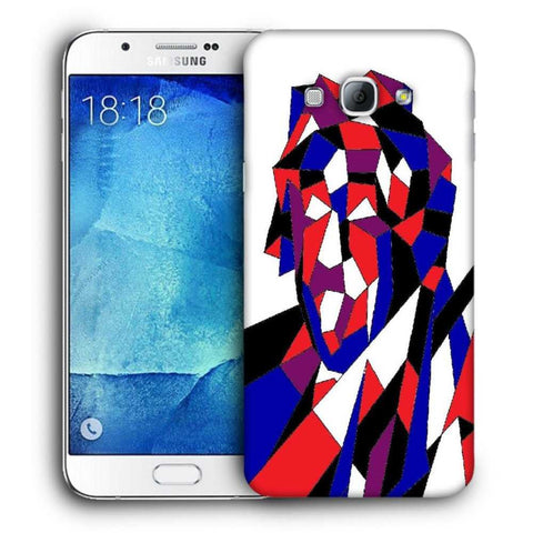 Snoogg Abstract Multicolor Designer Protective Back Case Cover For Samsung Galaxy A8