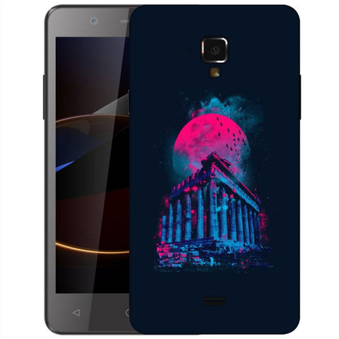 Snoogg Abstract Building Designer Protective Back Case Cover For Swipe Elite 2 Plus