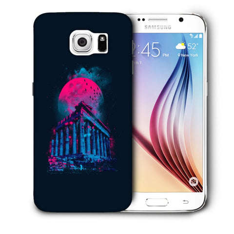 Snoogg Abstract Building Designer Protective Back Case Cover For Samsung Galaxy S6