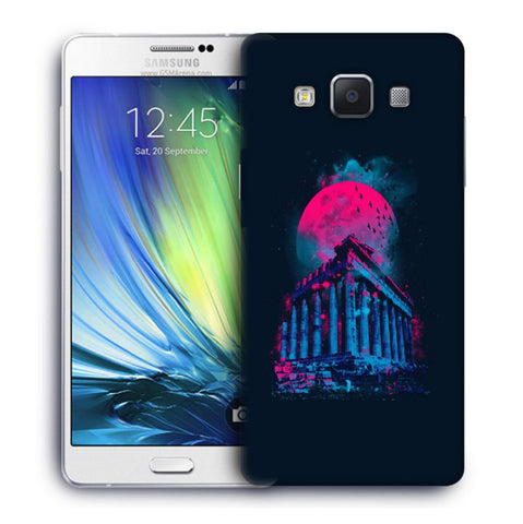 Snoogg Abstract Building Designer Protective Back Case Cover For Samsung Galaxy A7