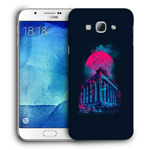 Snoogg Abstract Building Designer Protective Back Case Cover For Samsung Galaxy A8