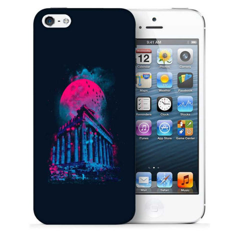 Snoogg Abstract Building Designer Protective Back Case Cover For Apple Iphone SE