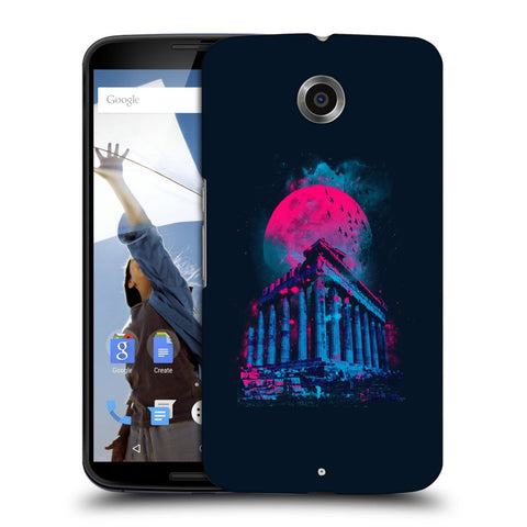 Snoogg Abstract Building Designer Protective Back Case Cover For Motorola Nexus 6