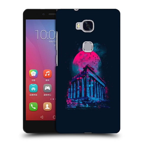 Snoogg Abstract Building Designer Protective Back Case Cover For Huawei Honor 5X
