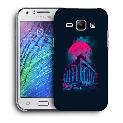 Snoogg Abstract Building Designer Protective Back Case Cover For Samsung Galaxy J1