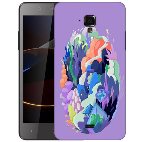 Snoogg Abstract Earth Designer Protective Back Case Cover For Swipe Elite 2 Plus