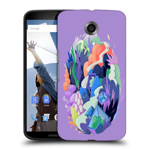 Snoogg Abstract Earth Designer Protective Back Case Cover For Motorola Nexus 6