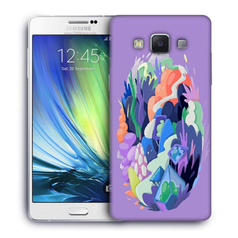 Snoogg Abstract Earth Designer Protective Back Case Cover For Samsung Galaxy A7