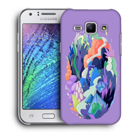 Snoogg Abstract Earth Designer Protective Back Case Cover For Samsung Galaxy J1