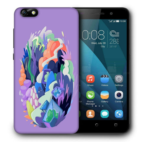 Snoogg Abstract Earth Designer Protective Back Case Cover For Huawei Honor 4X