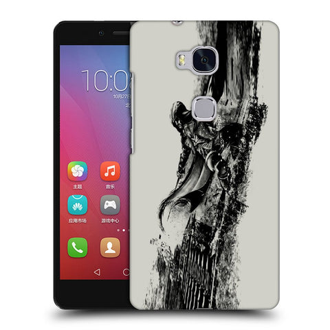 Snoogg Abstract Samurai Designer Protective Back Case Cover For Huawei Honor 5X