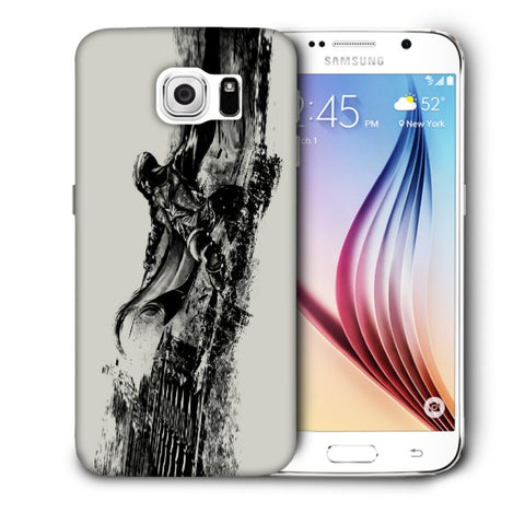 Snoogg Abstract Samurai Designer Protective Back Case Cover For Samsung Galaxy S6