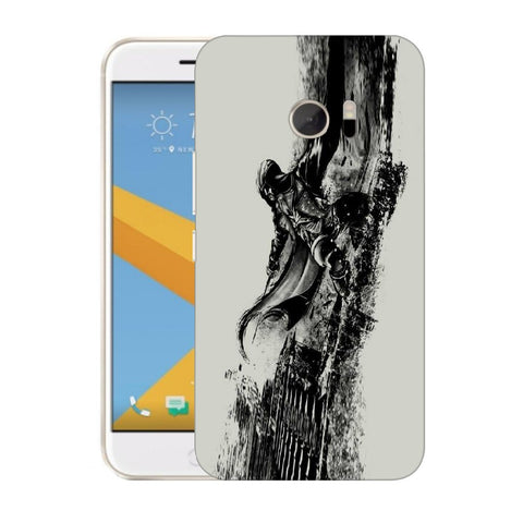 Snoogg Abstract Samurai Designer Protective Back Case Cover For HTC Desire 10 Lifestyle
