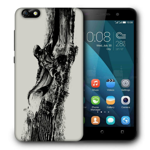 Snoogg Abstract Samurai Designer Protective Back Case Cover For Huawei Honor 4X