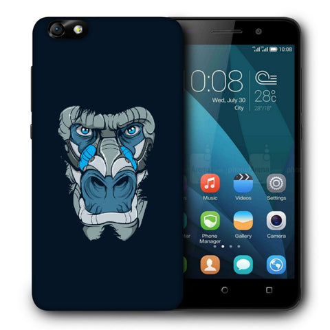 Snoogg Abstract Monkey Face Designer Protective Back Case Cover For Huawei Honor 4X