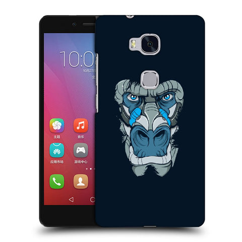 Snoogg Abstract Monkey Face Designer Protective Back Case Cover For Huawei Honor 5X